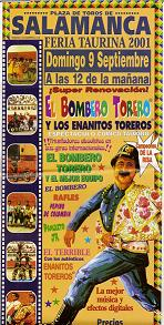 Cartel El Bombero Torero. 2001