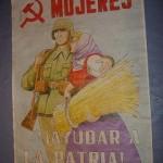 Cartel PCE. ¡Mujeres Ayudar a la Patria!