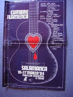 Cartel cumbre Flamenca Salamanca1984