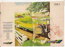 Catalogo de juguetes Britains. 1991