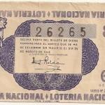 Lotería Nacional. Décimo sorteo nº 24. 1945