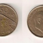 Moneda 50 ptas. Franco 1957. 60 €