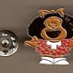 Pin Mafalda con brazos abiertos