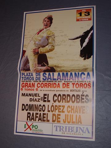 Plaza de Toros Salamanca. El Cordobés 2001