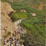 Postal Callosa de Ensarria. Excursión Fuentes del Algar. Alicante. 1969