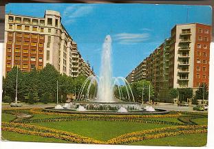 Postal Fuente de Catalanes y Avd. Sancho el Sabio. 1968