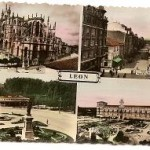 Postal León. 1954 Coloreada.
