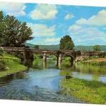 Postal Los Negrales. Villalba Madrid. Puente el Herreño sobre el río Guadarrama. 1971