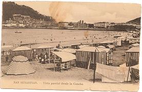 Postal San Sebastian. Vista parcial desde La Concha
