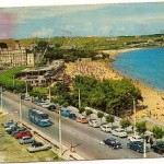 Postal Santander. Panorámica de la Primera playa.1966