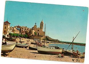 Postal Sitges. Barcelona. 1962