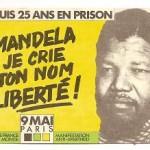 Postal libertad Mandela. Manifestación París 1987
