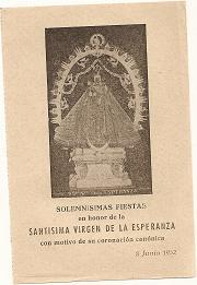 Virgen de la Esperanza. 1952