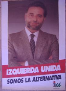 Cartel Izquierda Unida. 1993