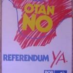 Cartel OTAN No. Referéndum Ya. PCE.