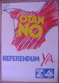 Cartel OTAN No. Referéndum Ya. PCE.