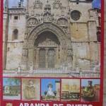 Cartel Turismo Aranda de Duero.  Junta de Castilla y León. 1985