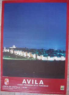 Cartel Turismo Avila. Junta de Castilla y León 1985