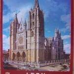 Cartel Turismo León. Junta de Catilla y León. 1985