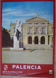 Cartel Turismo Palencia. Junta de Catilla y León. 1985