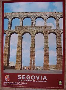Cartel Turismo Segovia. Junta de Castilla y León. 1985