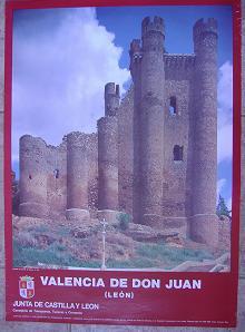 Cartel Turismo Valencia de Don Juan. Junta de Castilla y León. 1986
