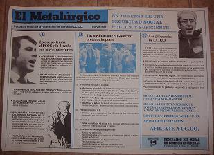 El Metalúrgido 1985 CC.OO.