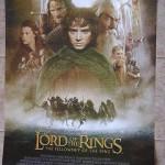 El señor de los anillos. Cartel de la película. En Inglés.
