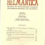 Helmantica nº 65 Mayo agosto 1970