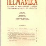 Helmantica nº 66  septiembre diciembre 1970