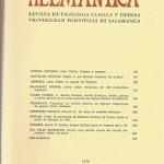 Helmantica nº 89 Mayo agosto 1978