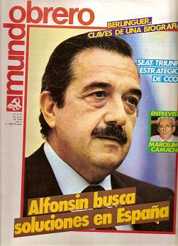 Mundo Obrero 21 de junio de 1984