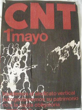 CArtel CNT. Primero de Mayo