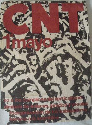 Cartel CNT 1 de mayo.