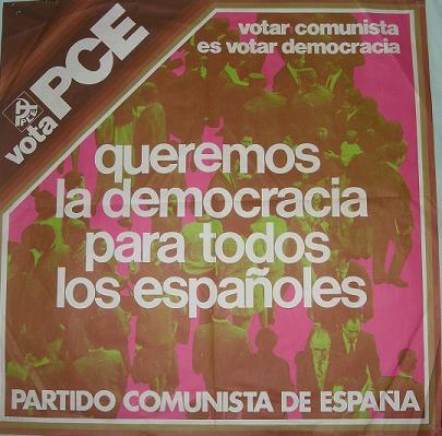 Cartel PCE 1977
