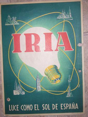 Cartel bombillasa Iria 1