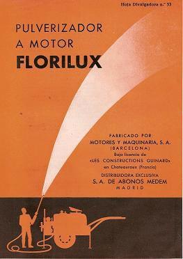 Pulverizador a motor Florilux