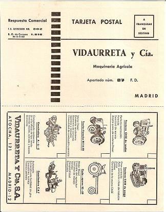 Tarjeta postal Vidaurreta