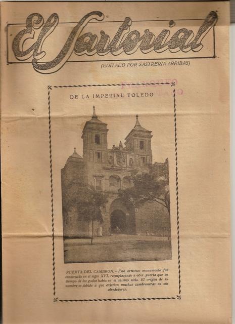 El Sartorial. Nº 56. Septiembre de 1934