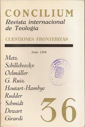 Concilium. Revista internacional de Teología. Julio 1968