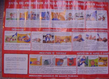 Poster Guia de primeros auxilios para escolares