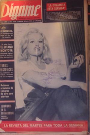 Dígame, ROTATIVO GRÁFICO SEMANAL. Núm. 1483, AÑO XXIX, Madrid,4 junio 1968
