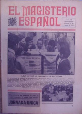 Revista EL MAGISTERIO ESPAÑOL,11 de junio de 1970