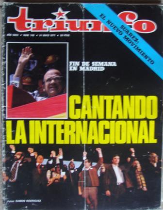 TRIUNFO, AÑO XXXII, NÚM. 746,14 de mayo de 1977
