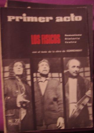 PRIMER ACTO, Revista mensual nº 72, 1966