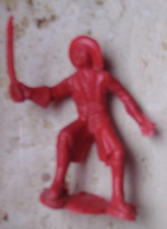 Figura de plático. Pirata