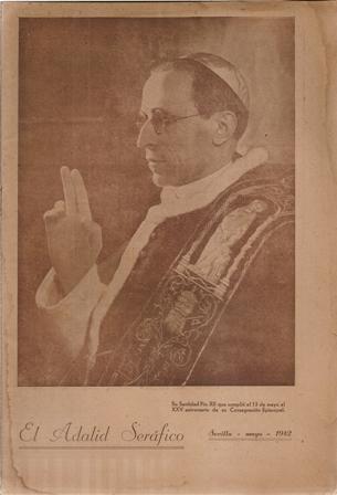 EL ADALID SERÁFICO AÑO XLII, Sevilla, mayo 1942, NÚM. 1902