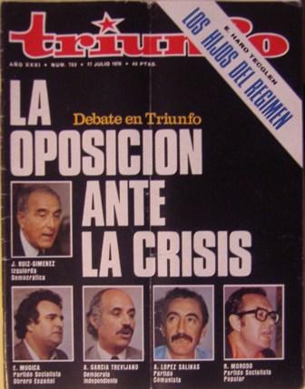 TRIUNFO AÑO XXXI, NÚM. 703, 17 de julio de 1976