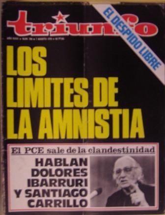 TRIUNFO AÑO XXXI, NÚM. 706, 7 de agosto de 1976