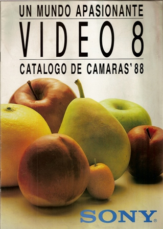 Un mundo apasionante Video 8. Catálogo de Cámaras 88, Sony